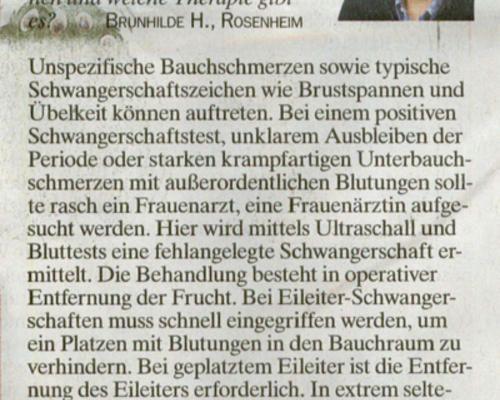 TZ-München - Gefahr für Mütter