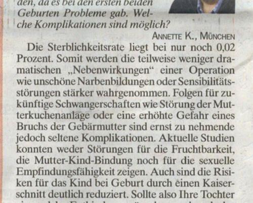 TZ-München - Kaiserschnitt