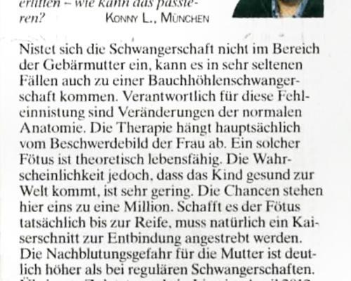 TZ-München - Komplikationen