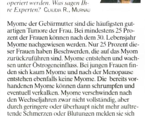 TZ-München - Myom behandeln