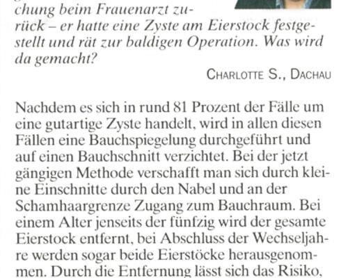 TZ-München - Problem mit Zysten