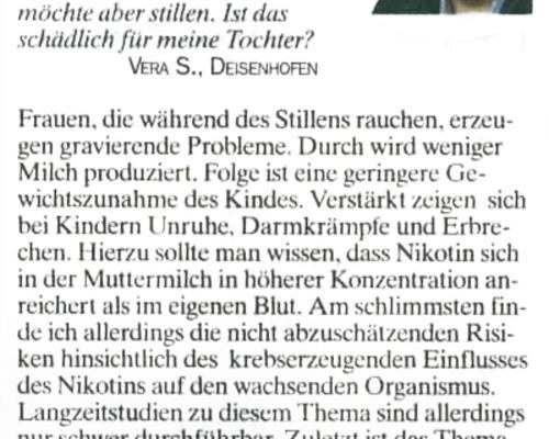 TZ-München - Rauchen und Stillen