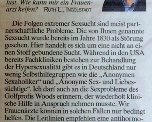 TZ-München - Sexsucht - Was tun