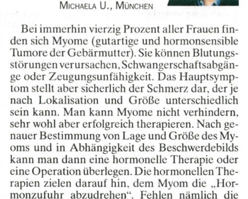 TZ-München - Was ist ein Myom