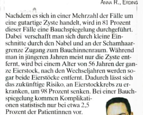 TZ-München - Zyste am Eierstock